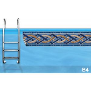 Bordüre - die clevere Lösung gegen Streifen   Poolumrandung, Aufkleber   B4