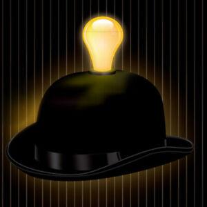 Light Headed Bowler Hat  - Light Bulb Hat, Accessories, Party, Fancy Dress