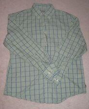 IZOD button down collared plaid long sleeve MENS shirt size MEDIUM