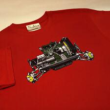 Austin Mini Morris Classic car Engine red T-Shirt size M - limited edition