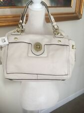 New Coach Bag Pey Leather Cryal Satchel Shoulder Bone AUTHENTIC