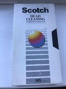 SCOTCH Videocassette HEAD CLEANER PLUS VHS Video Tape Cleaner