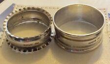 2 x Antique Solid Silver Hallmarked Serviette Rings 1903 & 1920