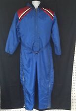 VTG United Pioneer SZ Small Snow Ski Suit Winter Zip Hood Coverall Blue Outdoors