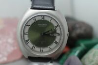 Vintage Seiko Automatic 17j Stainless Steel Day/Date Men's Wrist Watch Running