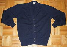 LL Bean Cardigan Sweater Navy Blue Cotton USA Made Vintage 90s Size Tall Medium
