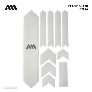 All Mountain Style HONEYCOMB MTB Frame Guard Protection Decals CLEAR/SIL EXTRA