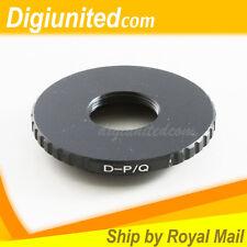 D mount 8mm cine film movie lens to Pentax Q P/Q PQ lens camera adapter Q Q10