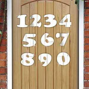 5cm Acrylic NUMBER Mirror (0-9)- House/ Door Number/ Scrapbooking/ Craft