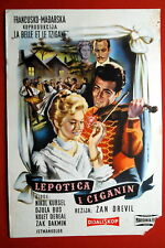 LA BELLE ET LE TZIGANE FRENCH HUNGARIAN NICOLE COURCEL 1959 EXYU MOVIE POSTER