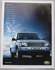 2003 Range Rover Original advert