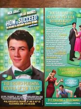Nick Jonas How to Succeed  Business Without Really Trying ad/flyer  Broadway NY