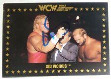 Sid Vicious Signed Auto'd 1991 WCW Rookie Card RC #18 Autographed WWE WWF Sycho