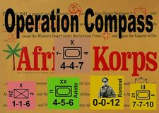 Variant Counters Operation Compass  Afrika Korps (Avalon Hill), New Map Art!