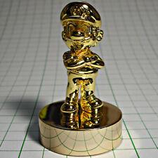 Super Mario Gold Statue Figure Platinum Member Memorial Club Nintendo