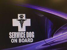 """SERVICE DOG ON BOARD"" Dog Sticker Aid Dog --Vehicle/Window 5.5"" x 6"""