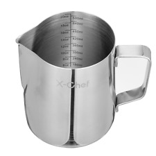 Barista Milk Frother Pitcher Stainless Steel Cup Frothing Steaming 20 oz Kitchen