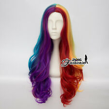 70CM Lolita Multi-Color Ombre Hair Curly Fashion Women Cosplay Cute Wig Party