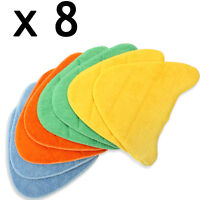 8 Cleaning Covers Pads for VAX Total Home Master 2 in 1 Steam Cleaner Floor Mop