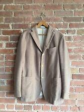Boglioli Mens Jacket, Beige Velvet Sz 48, 100% Cotton Italy