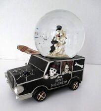 HAPPY HALLOWEEN SKELETON Bride & Groom COUPLE MUSICAL SNOW/WATER GLOBE ~ New