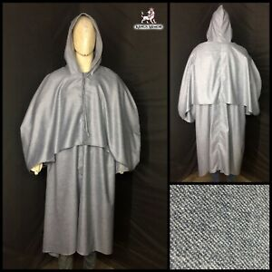 Medieval grey color cape Cloak