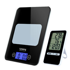 Digital Electronic Kitchen Food Diet Postal Scale Timer Thermometer 11lb/5kg US