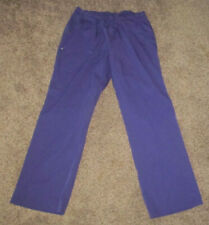 Womens Size M Medium Scrub Pants Purple Medical Nurse Dental Elastic Waist