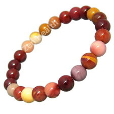 Australian Mookaite 8mm Natural Healing Beaded Bracelet - Stretchable