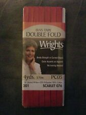 "3 great colors! Wrights 1//4/"" w x 4yds Passementerie Tubular Bias Tape"