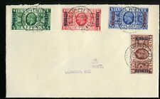 Morocco Agencies British currency KGVI 1935 Silver Jubilee set SG62/5 on FDC