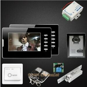 """7"""" Video Door Intercom System with Intra-monitor Audio Intercom for House/ Flat"""
