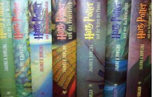 Harry Potter Büchersammlung Band 1-7 komplett, gezacktes Cover + guter Zustand