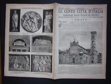 1896 PRATO Le Cento Città d'Italia Sonzogno Editore riccamente illustrato