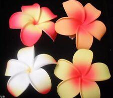 Hawaiian Foam PLUMERIA Flower Hair CLIP Red Yellow Orange Luau Wedding Prom