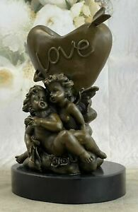 Handcrafted Detailed Candle Stick Love Lovers Candleholder Bronze Sculpture