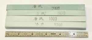 (4) Japanese Sharpening Stones - Rods / 240 - 600 - 1000 - 1200 Grit / NOS