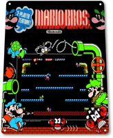 Mario-Bros Classic Arcade Marquee Game Room Man Cave Wall Decor Metal Tin Sign