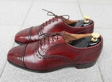 New & Lingwood  - Leather Brogue Medallion Toe Oxford Shoes . Made in England