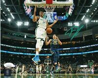 Giannis Antetokounmpo Signed Milwaukee Bucks 8x10 Action Photo JSA ITP