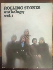 Rolling Stones Anthology Music 1975 Book Piano , voice, guitar.
