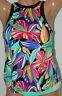 ~NEW 24th & Ocean Multi-Color High-Neck Under-Wire Tankini Top Size M Medium #O6