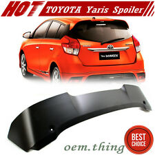 Unpaint For Toyota Yaris 3rd 4D Hatchback T Style Rear Roof Spoiler  Asia Model