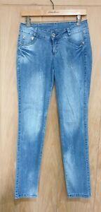 Stop jeans size 10 thin blue stretch denim low rise slim / skinny jeans