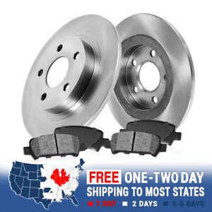 Rear 245 mm Brake Rotors And Metallic Pads For AUDI A4 QUATTRO 2WD 1.8L TURBO