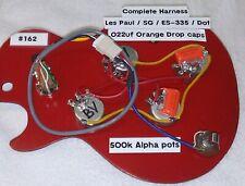 Metric Les Paul & SG Wiring Harness - Alpha Pots/Orange Drop Caps!