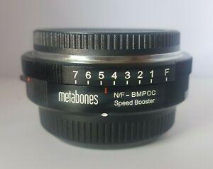 Metabones Nikon G to Blackmagic Pocket Cinema Cam. BMPCC Micro 4/3 Speed Booster