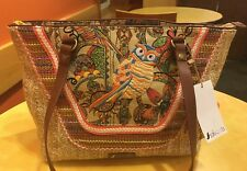 SAKROOTS Satchel and Cosmetic Bag CAMEL-COLORED SPIRIT DESERT OWL 107667 New!