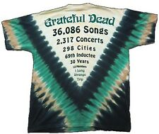 Count Down Grateful Dead Tie Dye shirt XL GARCIA, WEIR, LESH 2 Sided - NEW!!