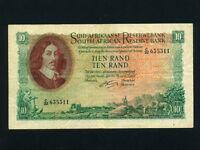 South Africa:P-107b,10 Rand,1961-5 * Jan van Riebeeck * Suid * VF *